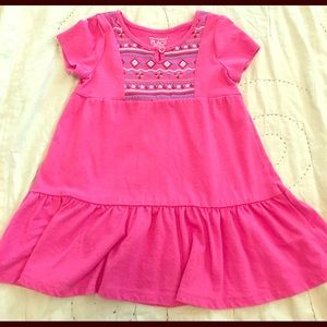 Pink cotton sun dress